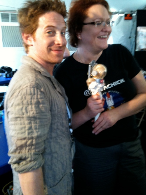 @SethGreen with @VenusBarbie @DataChick