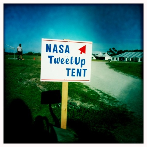 NASA Tweetup Tent Sign
