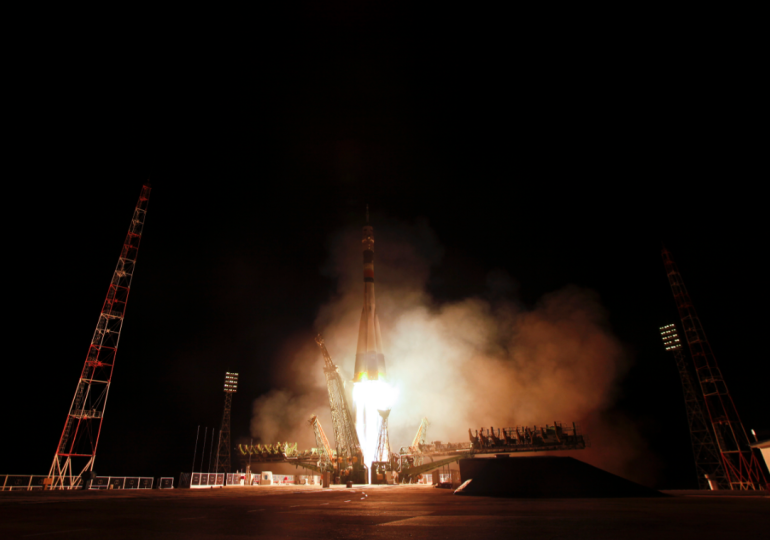 Ron Garan's Soyuz launch