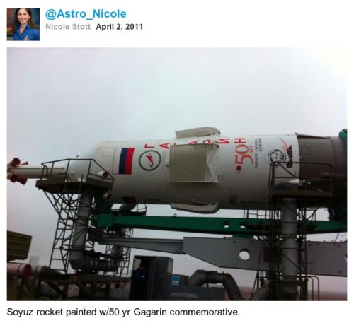 @Astro_Nicole's twitpic of Soyuz
