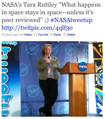 NASA's Tara Ruttley @SpaceMama