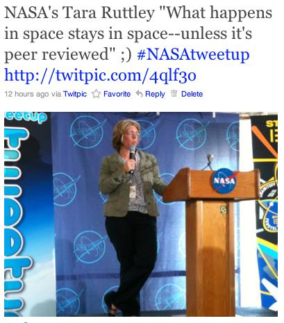 NASA's Tara Ruttley @SpaceMama