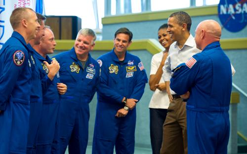 POTUS with STS-134 crew