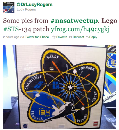 @DrLucyRogers LEGO mission patch