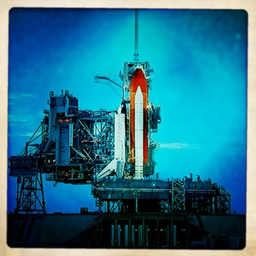 Space Shuttle Atlantis on Launch Pad A