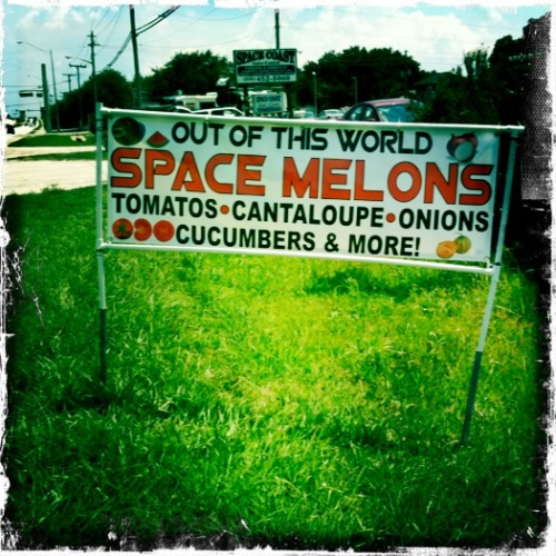 Space Melons: only on the space coast.