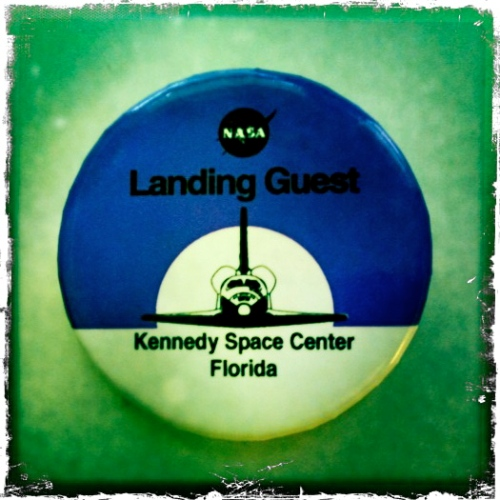 STS-135 Final Space Shuttle Landing Guest Button
