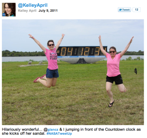 @KelleyApril + @glancz jumping for joy