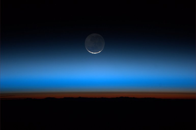Moonrise over Earth