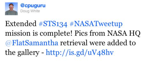Tweet about Flickr stream