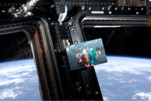 A green screen Space Station photo of me in the actual Space Station