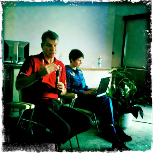 @Astro_Paolo with @AstroSamantha tweeting