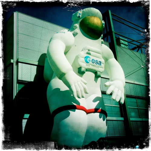 Large inflatable Spacewalker at German Space Day