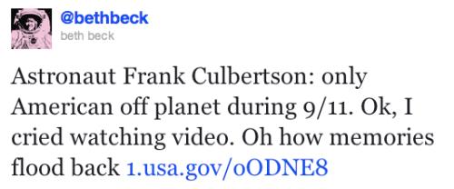 Tweet about 9/11