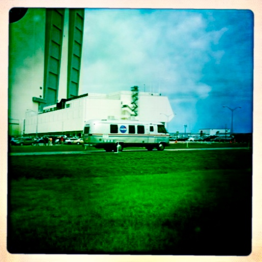 STS-135 Crew in AstroVan going to Launch pad