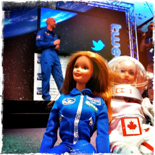 @VenusBarbie at the ESA/DLR Space Tweetup in Germany