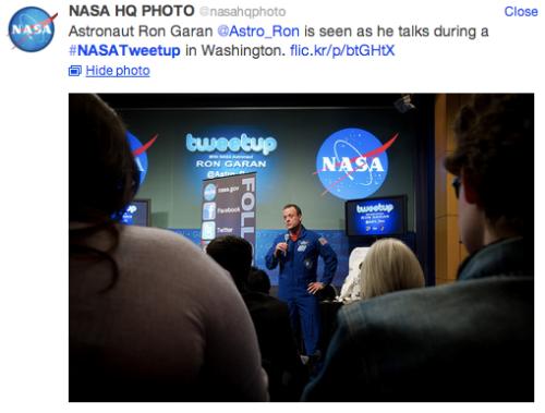 NASA tweetup @NASAhqphoto Tweet
