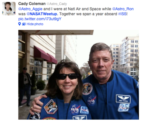 NASA tweetup @Astro_Cady Tweet