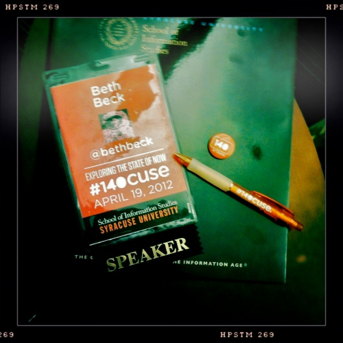 Badge from #140cuse Conference