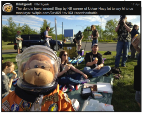 Discovery #SpotTheShuttle @ThinkGeek