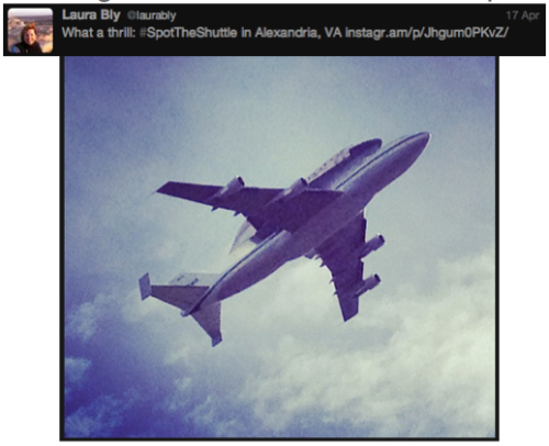 Discovery #SpotTheShuttle @LauraBly