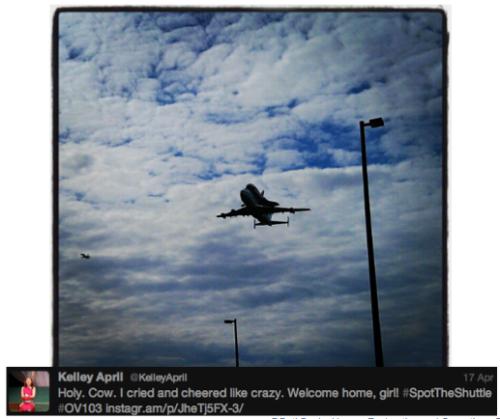 Discovery #SpotTheShuttle @KelleyApril