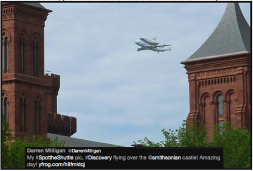 Discovery #SpotTheShuttle @DarrenMilligan