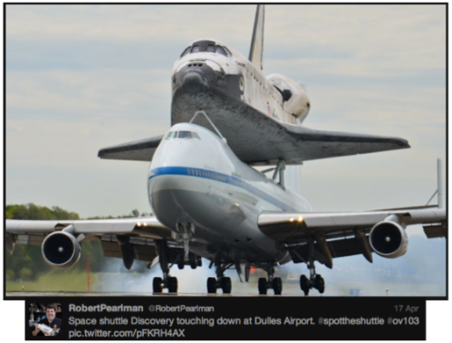 Discovery #SpotTheShuttle @RobertPearlman