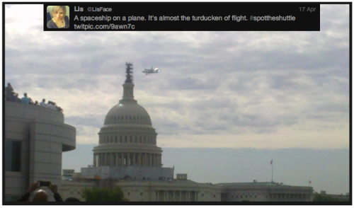 Discovery #SpotTheShuttle @LisFace