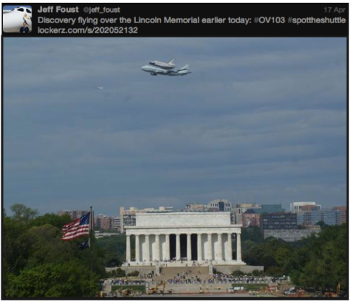 Discovery #SpotTheShuttle @jeff_foust