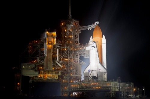 Space Shuttle Discovery on Launchpad for final launch. Photo: NASA/Bill Ingalls