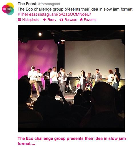 @Feast: Eco Design Challenge tweet