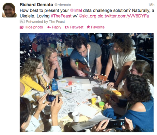 Feast: Richard Demato @rdemato tweet