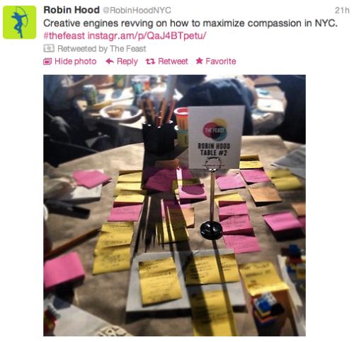 Feast: @RobinHoodNYC tweet