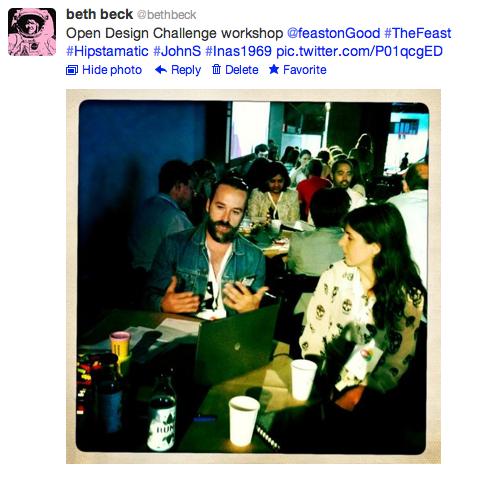 Feast: @bethbeck open design challenge tweet