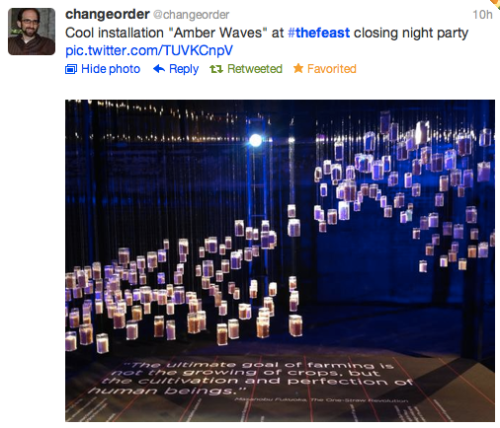 "Feast: @Changeorder ""Amber Waves"" tweet"