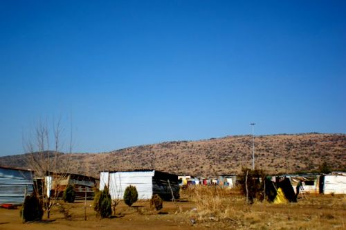 South Africa squatter's village