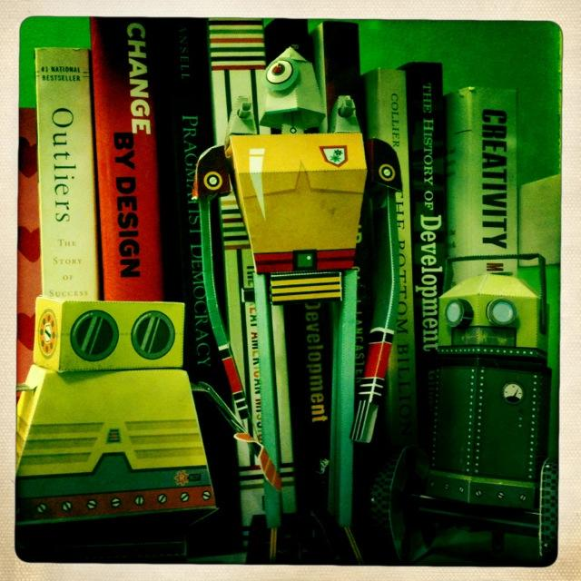 Spacebots are hanging out in my library