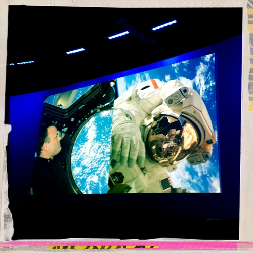 LAUNCH 2020 Summit video screen for Astronaut Ron Garan