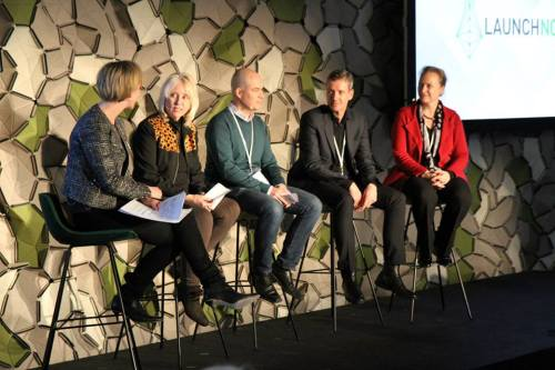 LAUNCH Nordic: NASA's Diane Powell second from left