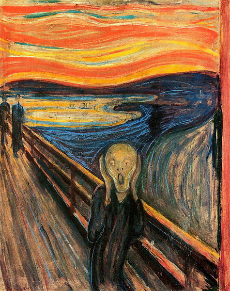 """The Scream"" by expressionist artist Edvard Munch"