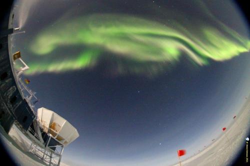 Earth's surface from the Amundsen-Scott South Pole Station in Antarctica. Credit: NASA/Robert Schwarz