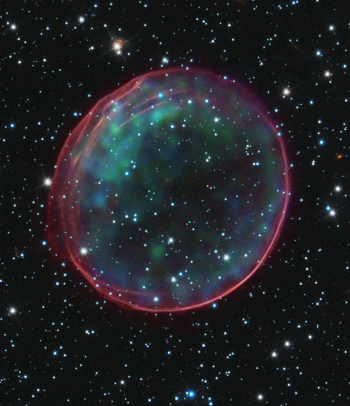 Hubble image of supernova.