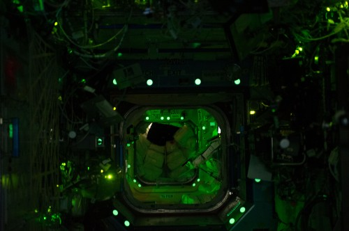 Expedition 38: Night view inside Space Station