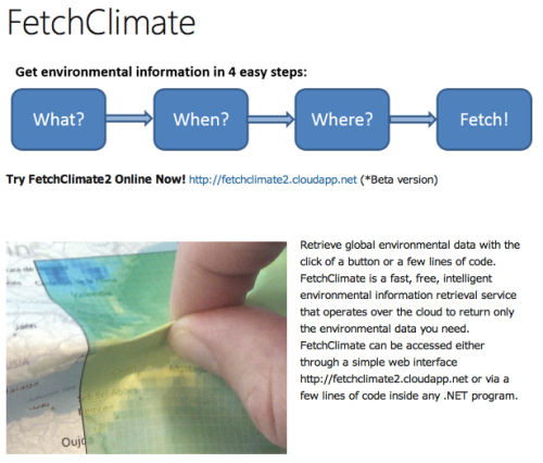 Microsoft's FetchClimate Tool