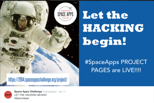 Space Apps Let Hacking Begin