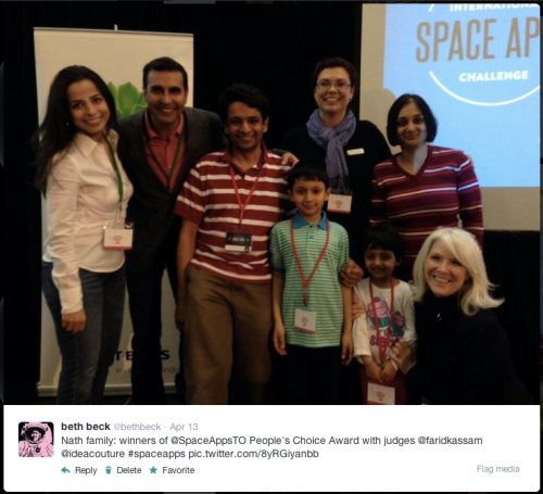Space Apps Toronto Winner