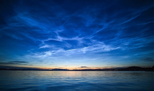 Noctilucent Clouds in Sandbukta, Norway. Photo: Morten Ross