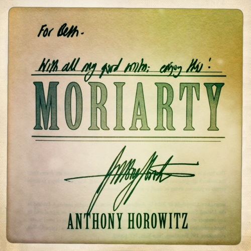 Anthony Horowitz autograph on his Moriarty book