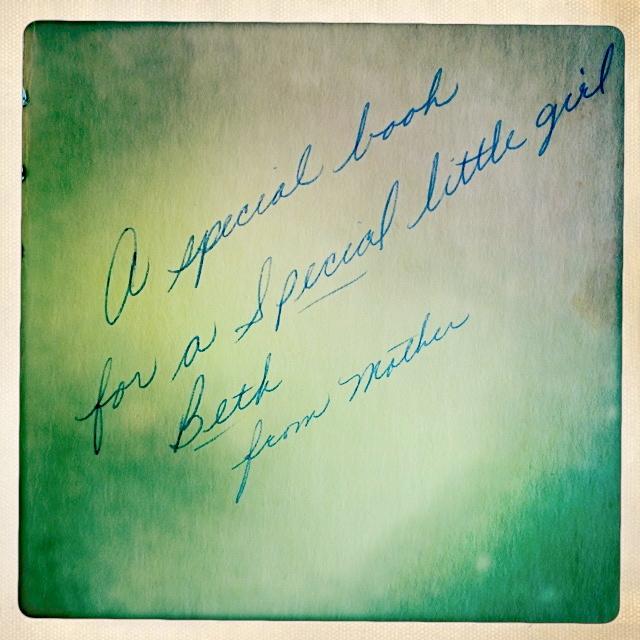 "Handwritten Note inside ""Books"" by Murray McCain"